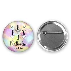 Badge EVJF - Team de la mariée - Modèle Boho Flèches