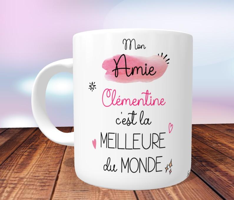 Mug Meilleure Amie Du Monde Personnalise Cadeau Best Friend