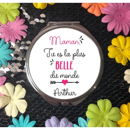 miroir_personnalisé_cadeau_maman_la_plus_belle