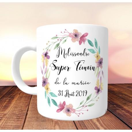 mug_super_temoin_de_la_mariee_couronne_florale