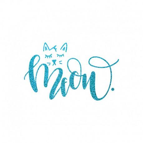 Miaou chat en flex thermocollant