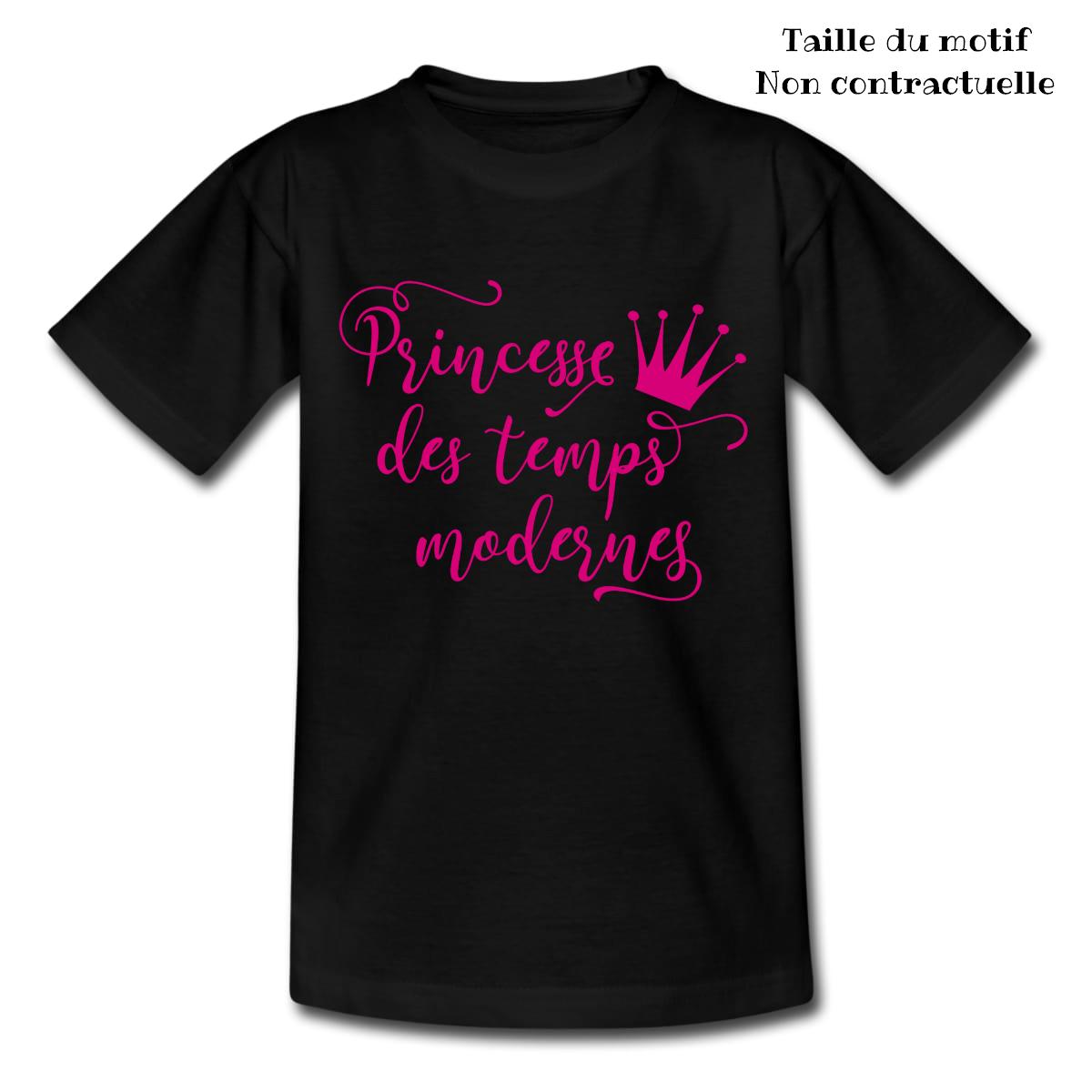 T shirt Princesse des temps modernes